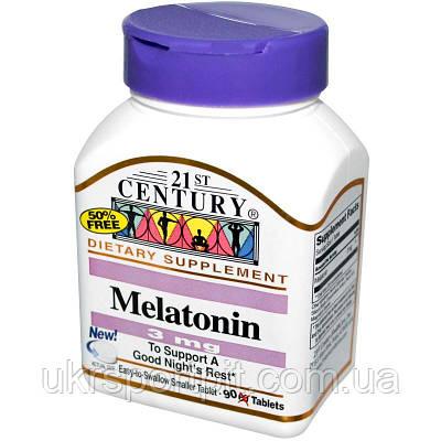 Мелатонин (Melatonin) 21st Century,3 мг, 90 таблеток