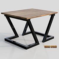 Стол журнальный СтЖ-1 (Ш1000) черный или белый, из дерева и металла