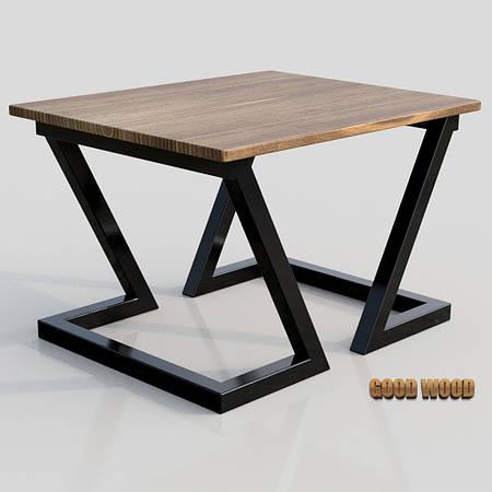 Стол журнальный СтЖ-1 (Ш800) черный или белый, из дерева и металла
