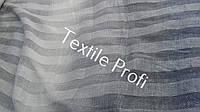 Льняная ткань в полоску, с переходом цвета - от серого к синему! (шир. 205 см), фото 1