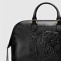 Мужской кожаный рельефный портфель Gucci