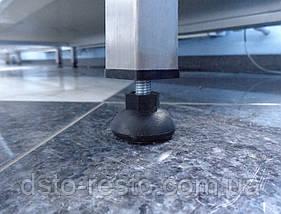 Производственный стол из нержавеющей стали с полкой из оцинковки 1500/600/850 мм, фото 2