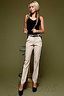 Бежевые женские брюки Леди  Jadone Fashion 42-48 размеры
