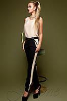 Черные женские брюки Леди  Jadone Fashion 42-48 размеры
