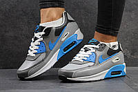 Женские кроссовки Nike Air Max серые с голубым 2854