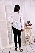 Женская блуза свободного кроя 0580 цвет белый размер 42-74, фото 4
