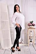 Женская блуза свободного кроя 0580 цвет белый размер 42-74, фото 2