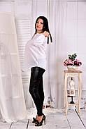 Женская блуза свободного кроя 0580 цвет белый размер 42-74, фото 3