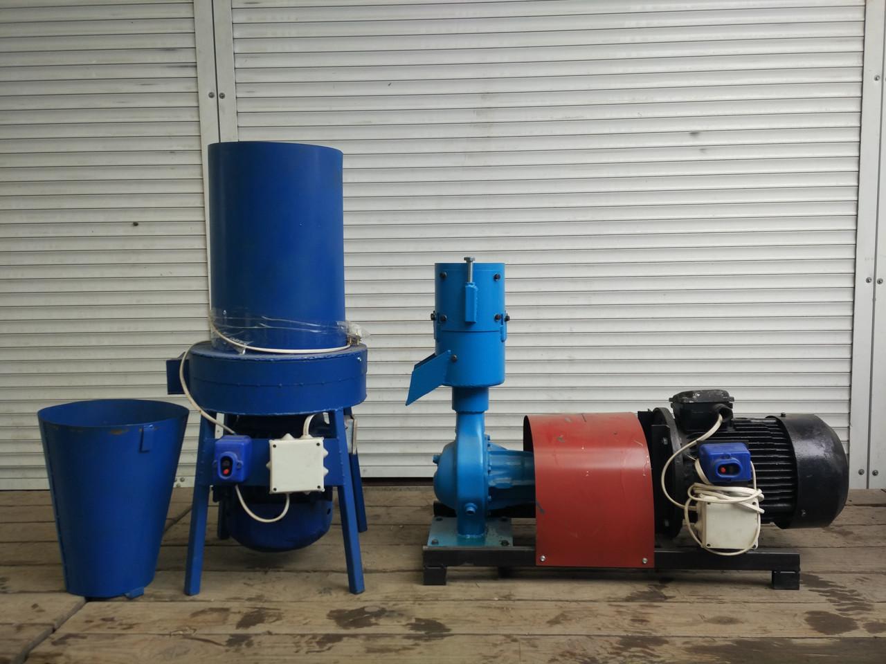 Гранулятор комбикорма 4 кВт+ Измельчитель, набор оборудования (измельчитель сена и зерна, траворезка) 3 кВт
