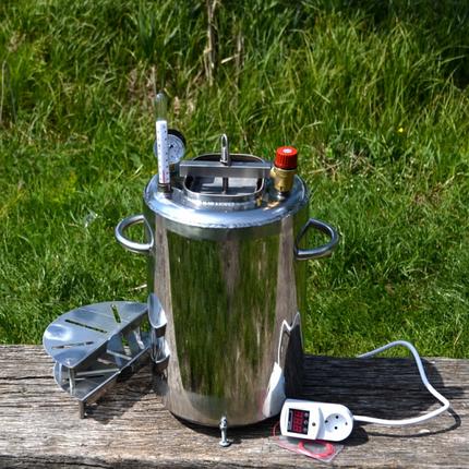 Автоклав бытовой ЛЮКС 14 пол.литр. электро, из нержавеющей стали для домашнего консервирования, фото 2