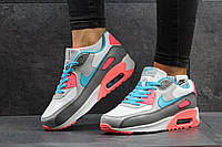 Женские кроссовки Nike Air Max серые с розовым 2855