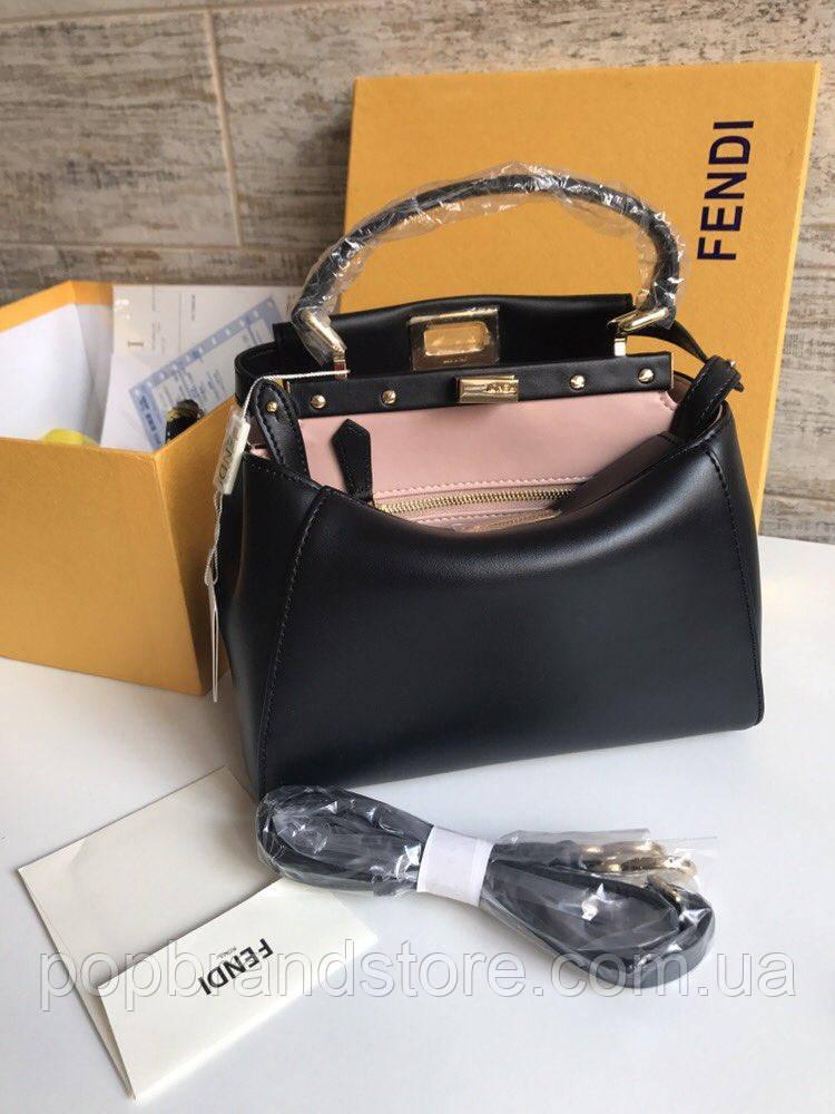 320c4343842e Стильная женская сумка FENDI PEEKABOO черная (реплика) - Pop Brand Store |  брендовые сумки