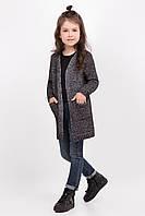 Теплый и качественный кардиган для девочки с кармашками, размеры 104-122