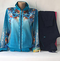 Женский спортивный прогулочный трикотажный костюм Турция— Линке, размеры 42, 44, 50.