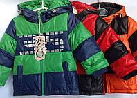 Куртка детская демисезонная для мальчика оптом 2-5 лет красная с черным