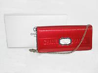 Кожаный кошелёк- клатч Chanel