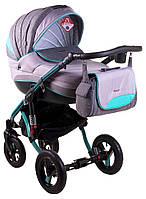 Детская коляска универсальная 2 в 1 Adamex Aspena Grand Prix Collection Mint - Black 11 Адамекс Аспена