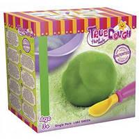 Зеленое тесто для лепки натуральное, мерная ложка, миска для замешивания, TrueDough