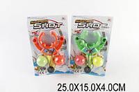Рогатка с шариками 0072 (1521690) (240шт/2) 2 цвета, на планшетке 25*15*4см