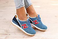 Стильные и яркие женские кроссовки New Balance 996 синие