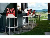 Стул барный Ego-K Bar. Цвет сидения - белый Цвет спинки в ассортименте.