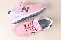 Стильные и яркие женские кроссовки New Balance 996 розовые