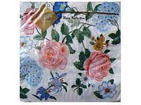 Салфетки столовые (ЗЗхЗЗ, 20шт) Luxy  Английская роза    (104) (1 пач)