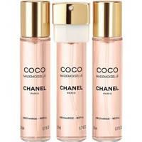 Женский французский парфюм Chanel Coco Mademoiselle 3x20ml EDP (сменный блок)