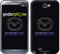 "Чехол на Samsung Galaxy Note 2 N7100 Mazda. Logo v2 ""3122c-17"""