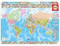 Пазл Educa Политическая карта мира 1500 элементов (EDU-17117)