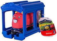 Паровозик Jazwares Chuggington Джекман с гаражом (JW10566/38620/10588)