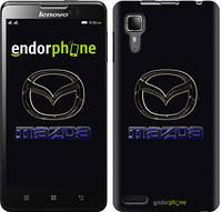 """Чехол на Lenovo P780 Mazda. Logo v2 """"3122u-305"""""""