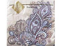 Серветка (ЗЗхЗЗ, 20шт) Luxy Східний орнамент (505) (1 пач.)