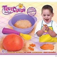 Тесто для лепки натуральное оранжевый+аксессуары
