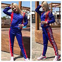 Костюм женский спортивный Adidas кофта на молнии и брюки разные цвета Fm39