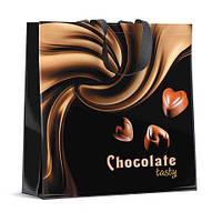 Сумка полипропиленовая с цветным рисунком  (40*40) Шоколад (10 шт)