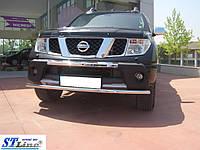 Кенгурятник Nissan Navara (2005-14) - ус одинарный