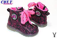 Новая коллекция Осень 2017. Детские ботинки демиcезонные для девочек от фирмы CBT.T L006-2 (8 пар, 22