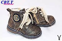 Новая коллекция Осень 2017. Детские ботинки демиcезонные для девочек от фирмы CBT.T L007-1 (8 пар, 22