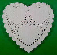 Серветка ажурна у формі серця Ф10(100шт) (1 пач.)