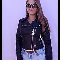 Куртка ветровка женская кожзам косуха