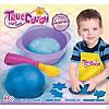 Синее тесто для лепки натуральное, мерная ложка, миска для замешивания, TrueDough