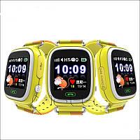 Умные детские часы Q 100 с GPS желтые