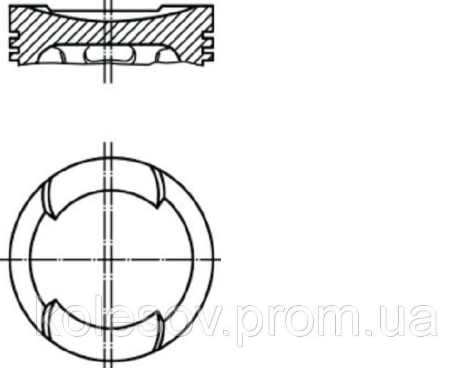 Поршни  AUDI  (80, 100, 200) 2,1 б, д. 79,5мм.