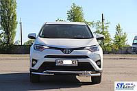 Кенгурятник  Toyota Rav 4 XA 40 (16+) - ус двойной