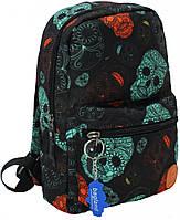 Рюкзак мини с черепами