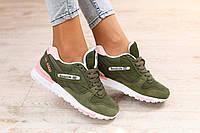 Размер 36 и 37!!! Стильные и яркие женские кроссовки Reebok GL 6000 хаки