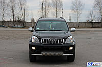 Кенгурятник  Toyota Land Cruiser Prado 120 (02-09) - ус двойной