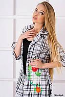 Кардиган-рубашка Тиберия с вышивкой (черный), фото 1