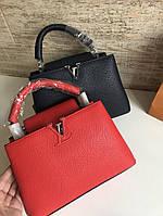 Модная женская сумка LOUIS VUITTON  CAPUCINES 27 см натуральная кожа